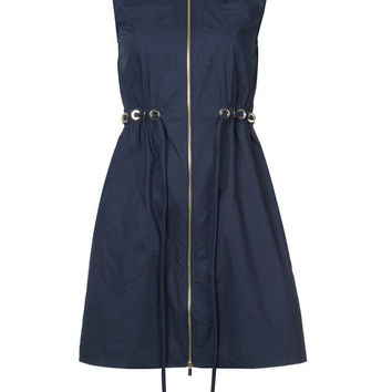 Derek Lam 10 Crosby Sleeveless Zip-Up Tunic With Grommet Detail - Farfetch
