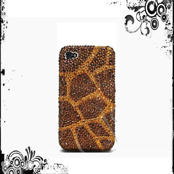 Swarovski Crystal Giraffe iPhone 5/5s or Samsung Galaxy S5 Crystal Case Made With Swarovski Elements Crystals - Giraffe case