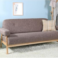 Mid Century Modern Colorful Linen Fabric Sofa Couch 3 Seater - Free Shipping