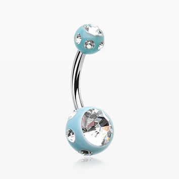 Aurora Gem Ball Acrylic Belly Button Ring