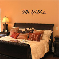 Mr and Mrs Wedding Vinyl Wall Decal 22381