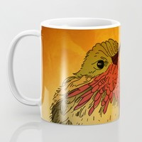 The Sunset Bird Mug by Texnotropio