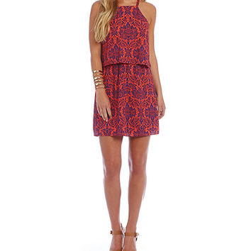 B. Darlin Scroll Pop Over Dress | Dillards