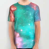Pastel Galaxy All Over Print Shirt by Page394
