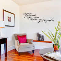 Fall Together Wall Quote Decal