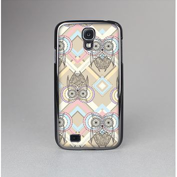 The Vintage Abstract Owl Tan Pattern Skin-Sert Case for the Samsung Galaxy S4