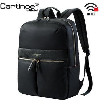 15 inch RFID Blocking Lightweight Backpack Business Travel Backpack College Daypack School Laptop bag for Teenage Men Women 15.6