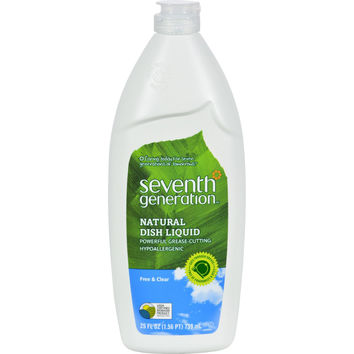 Seventh Generation Dish Liquid - Free and Clear - 25 oz (Pack of 3)