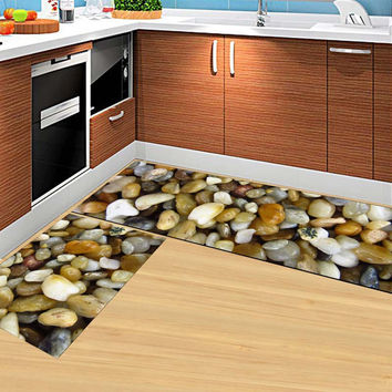 Modern Kitchen Mat Anti-slip Floor Rugs Living Room Balcony Bathroom Carpet Set Doormat Bath Mats Bedroom Mattress