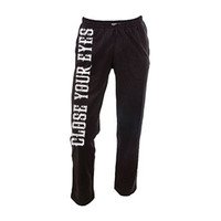 Close Your Eyes  We Will Overcome Sweatpants Black