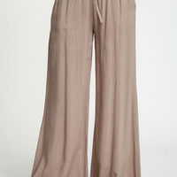 Drawstring Wide Leg Pants - LoveCulture