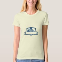 Referee Umpire Official Hold Whistle Crest Retro T-Shirt