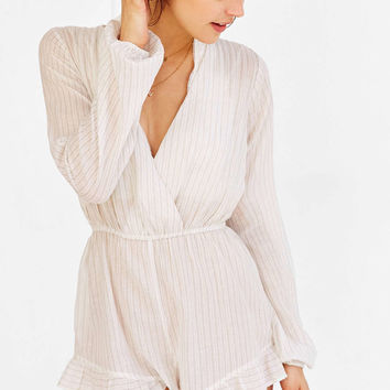 Out From Under Beach Striped Romper - Urban Outfitters
