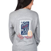Lauren James Pearls, Plaid, & Play Ball Long Sleeve Tee