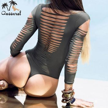one piece swimsuit  thong Sexy monokini biquini Beach Wear swimwear one piece bathing suits long sleeve swimwear women one piece
