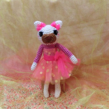 Amigurumi Cat Crochet Animal Stuffed Animal Crochet Toy Cat, Gift for Her, Gift Ideas