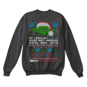 AUGUAU My Force Does Not Awaken Until Dec. 25th Star Wars Ugly Sweater