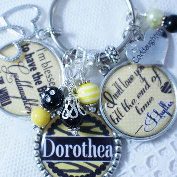 PERSONALIZED GODDAUGHTER GIFT,  Personalized Goddaughter Key Chain, Personalized Goddaughter Gift, Personalized Goddaughter Keychain,
