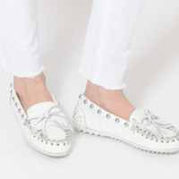 Rebecca Minkoff | Studded Kilty Moccasin - White