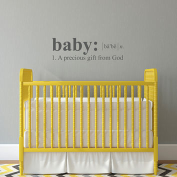 Baby Dictionary Definition Wall Decal - Medium