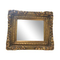 Antique French Baroque Gold Mirror