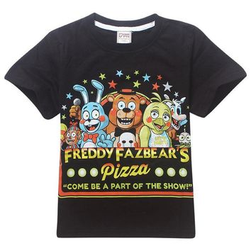 Five Night At Freddy kids t shirt  children large boy clothing short sleeve child summer clothes boys t-shirt kids clothes