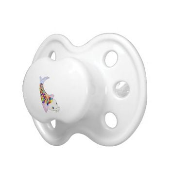 Colorful fish pacifier