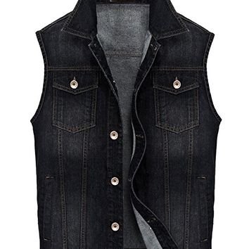 Men's Motorcycle Jean Vest