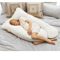 Today's Mom Coolmax Pregnancy Pillow, White