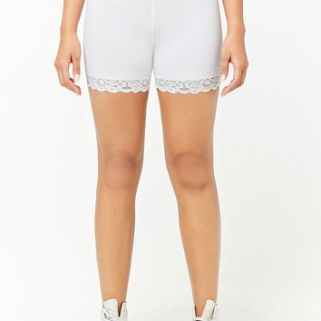 Lace-Trim Shorts