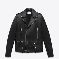 Saint Laurent Classic Motorcycle Jacket In Black Leather - ysl.com