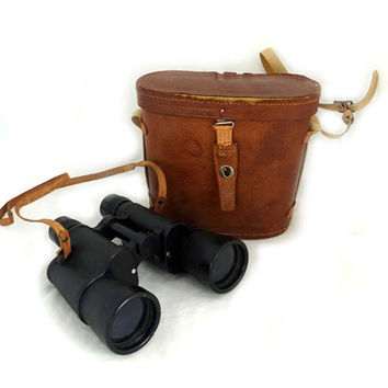 Vintage Mid century Omega 20 X 50  binoculars with leather case