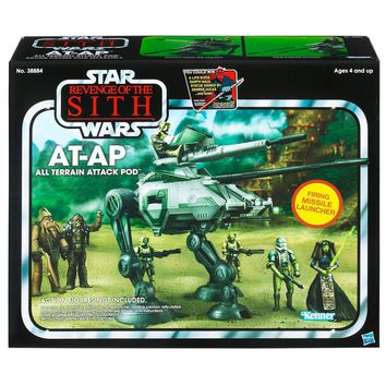 STAR WARS Vintage Class II Attack Vehicles- Episode III AT-AP
