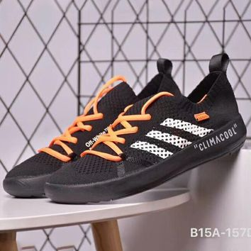 ADIDAS TERREX CC BOAT PARLEY & OFF-WHITE Joint Series Couples Wading Shoes F-CSXY black