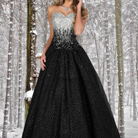Sweetheart Sequin Bust Ball Gown Disney Forever Enchanted 35515