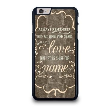 the avett brothers quotes iphone 6 6s plus case cover  number 1