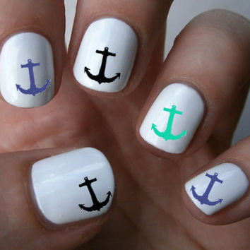 Blue Anchor Nail Art Decals Nail Stickers