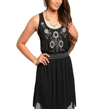 Lost In Love Dress: Black