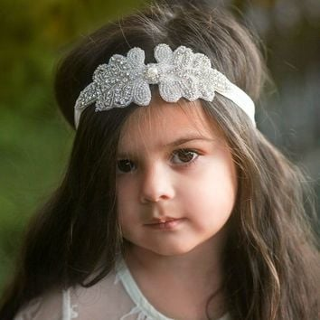 Gabriella Ivory Crystal Jewel Headband