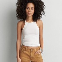 AEO First Essentials Soft & Sexy Hi-Neck Tank , Black | American Eagle Outfitters