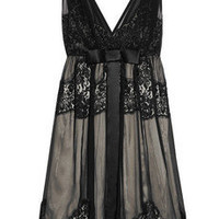 Dolce & Gabbana Lace-trimmed silk-blend dress - 30% Off Now at THE OUTNET