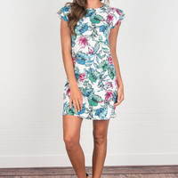 Bound For The Tropics Dress, Ivory