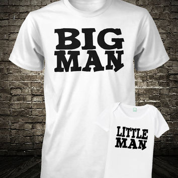 Father and Son Shirt Set Big Man Little Man S M L XL 6 Months 12 Months 18 Months 24 Months