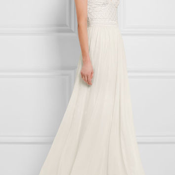 Temperley London - Anastasia embellished tulle and silk-chiffon gown