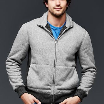 Gap Men Sherpa Zip Mockneck Sweatshirt