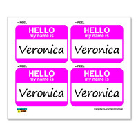Veronica Hello My Name Is - Sheet of 4 Stickers