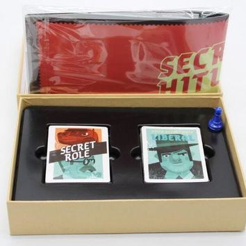 DCCKL3Z Secret Hitlers board card game a hidden identity game for 5-10 players English vision with English instructions