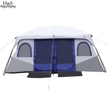8-10 Person 2-Bedroom Cabin Tent