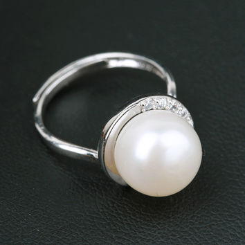 Gift Jewelry Shiny New Arrival Pearls 925 Silver Strong Character Stylish Accessory Ring [4914870660]
