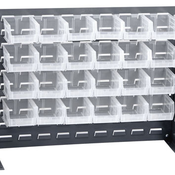 "Bench Rack System  27"" x 21"" with 24 QUS210 Bins"